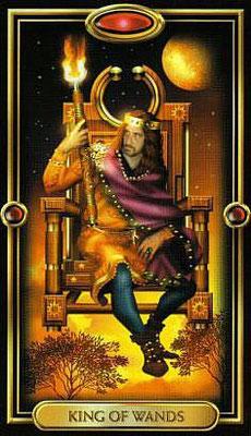 Roi de Bâtons - The Gilded Tarot