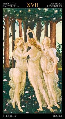 XVII L'Étoile - Le tarot doré de Botticelli