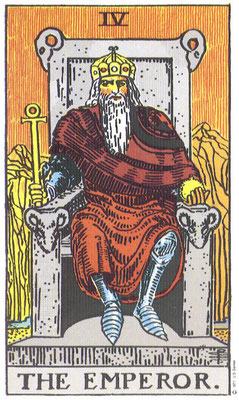 IV L'Empereur - Tarot Rider Waite Smith