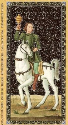 Golden Tarot of the Renaissance - Chevalier de Coupe