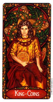 Roi de Deniers - Le tarot Art Nouveau de Myers