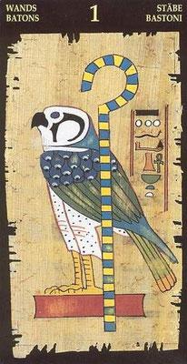 As de Bâtons - Le tarot Égyptien
