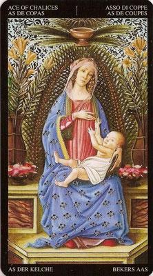 As de Coupes - Tarot Doré de Botticelli