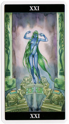 XXI Le Monde - Le tarot de l'Enchanteresse des Rêves