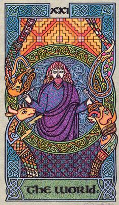 XXI Le Monde - Le tarot Celtique
