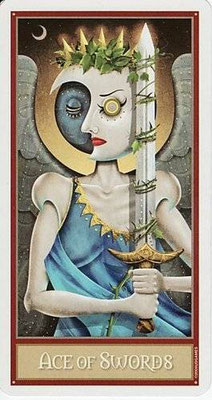 As d'Épées - Le tarot Deviant Moon