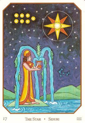 XVII L'Étoile - Le tarot Babylonien
