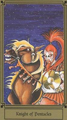 Chevalier de Deniers - Le tarot Fantastique