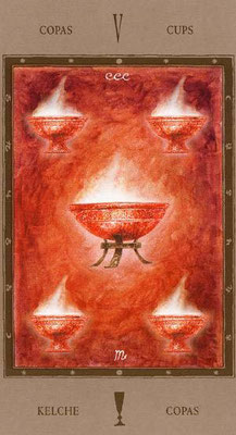 5 de Coupes - Labyrinth Tarot