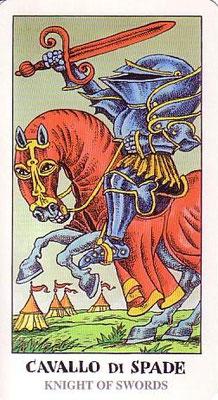 Chevalier d'Épées - Tarocco Bizarro