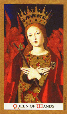 Golden Tarot - Reine de Bâton