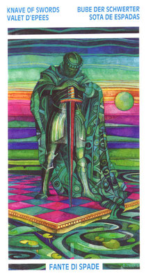 Valet d'Épées - Le tarot Crystal