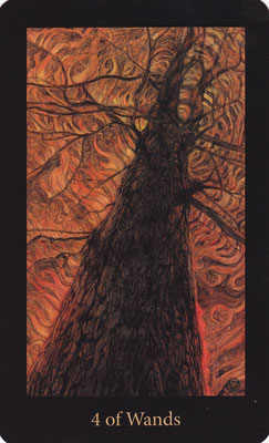 4 de Bâtons - Mary El Tarot
