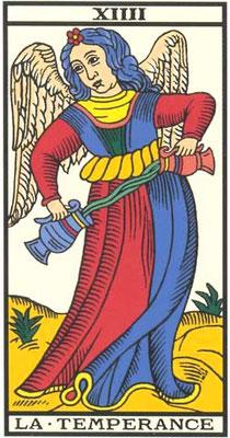 XIIII Tempérance - Tarot de Marseille