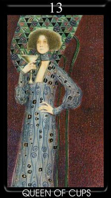 Reine de Coupes - Golden Tarot of Klimt