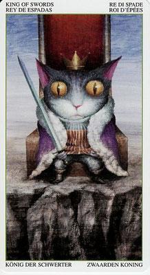 Roi d'Epées - Le Tarot de la Forêt Magique