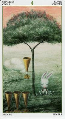 4 de Coupes - Le Tarot de la Forêt Magique