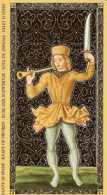 Golden Tarot of the Renaissance - Valet d'Épée