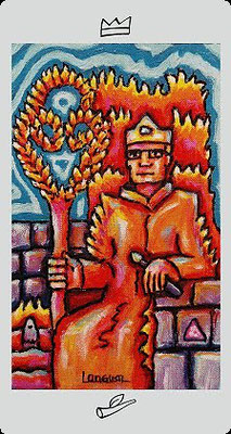 Roi de Bâtons - Langustl Tarot