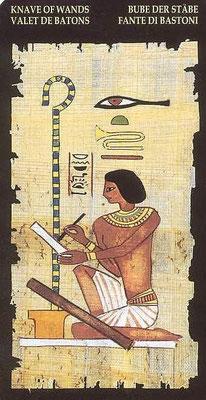 Page de Bâtons - Le tarot Égyptien