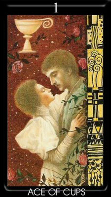 As de Coupes - Golden Tarot of Klimt
