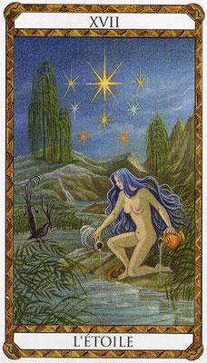 XVII L'Étoile - Le tarot d'Ambre