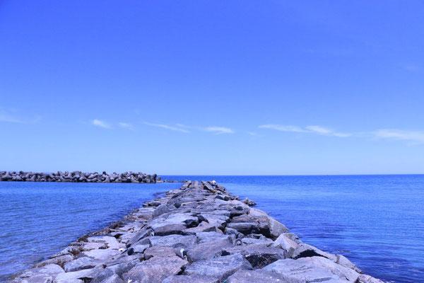 岩瀬浜にあるブロック