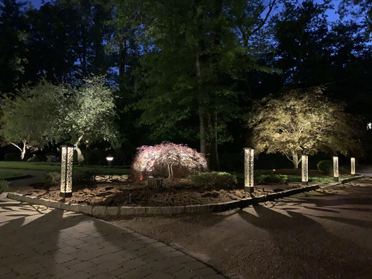 These stately bollards stand as sentries welcoming visitors onto this picturesque property. Woodcliff Lake, NJ