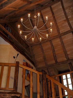 L'escalier et l'étage de la Lysiane