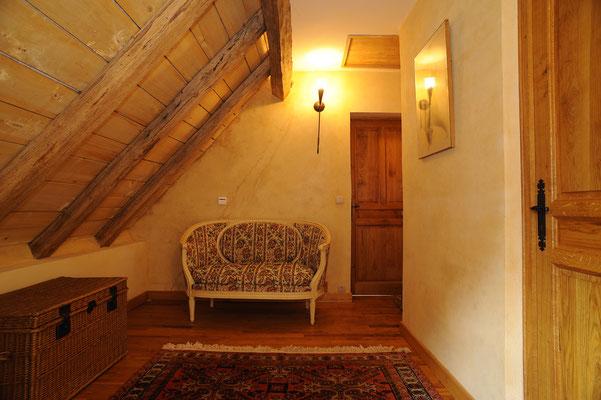 L'accès aux chambres de l'étage