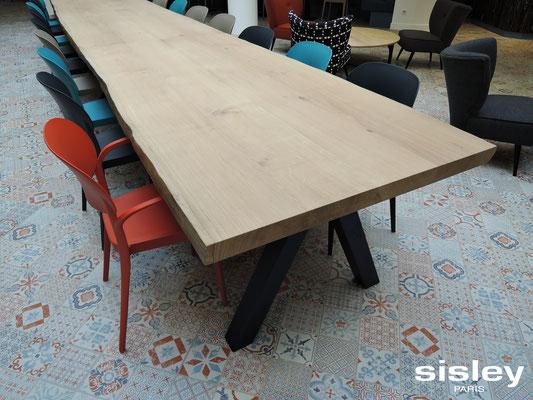 Table ARTMETA pour Sisley en chêne blanchi massif et acier