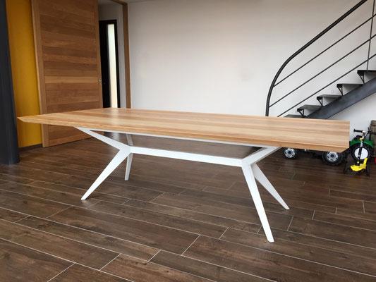 ARTMETA / Table Papillon / Frêne olivier + Blanc