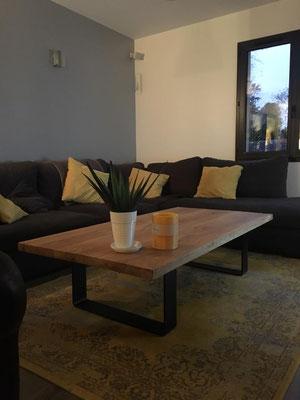 ARTMETA / Table basse Ruban  180 x 60 cm / Frêne olivier + marron cuivré