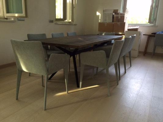 ARTMETA / Table Papillon 250 x 100 cm / Noyer + Charbon noir