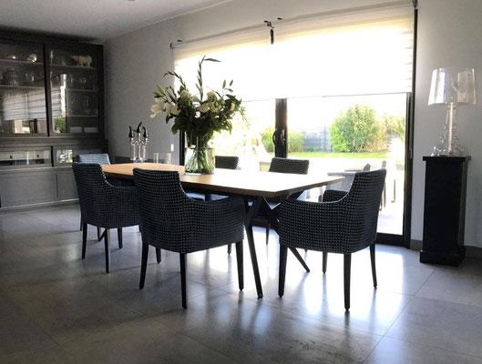 ARTMETA / Table Ma Reine  240 x 100 cm / Chêne naturel + Noir fine texture