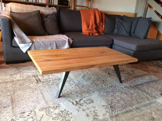 ARTMETA / Table basse Amazone 130 x 70 x H 35 cm / Chêne naturel + Manganèse