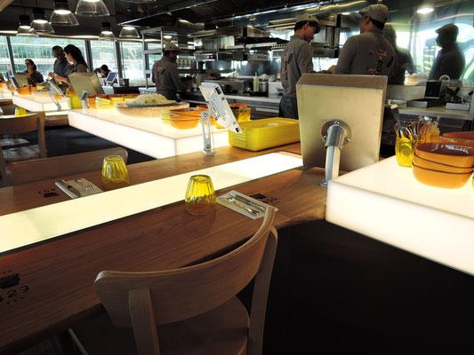 ARTMETA / Réalisation pour le restaurant ZA à Paris signé Philippe STARCK