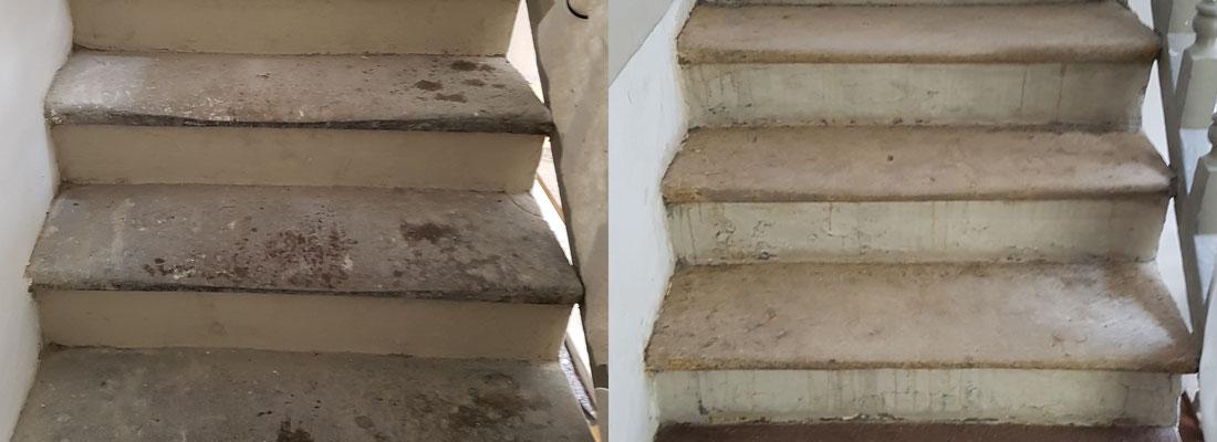 prima-dopo pulizia scale