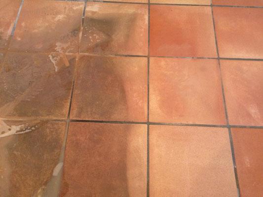prima-dopo pulizia pavimento