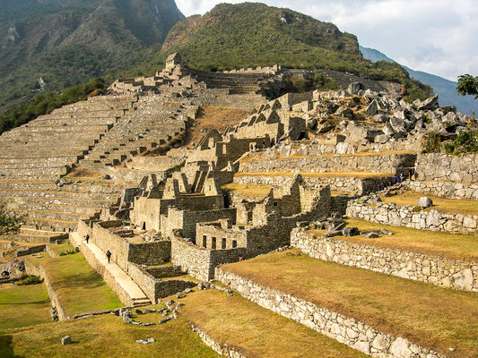 These terraces show how the Inca used every inch of land on the hill for Machu Picchu