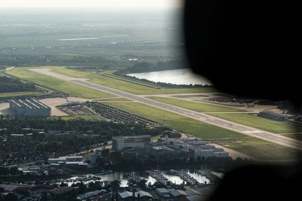 Aerial of Airbus Finkenwerder Airport