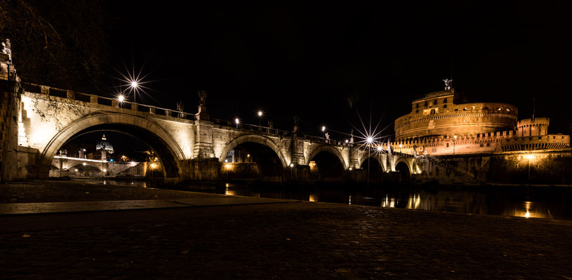 Bridge at Castel Sant'Angelo over Tiber river