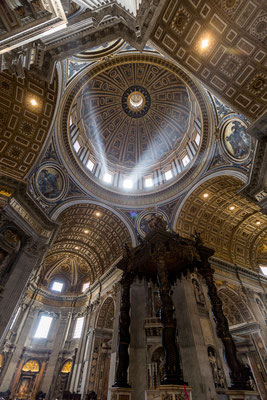 It feels special looking at the cupola of St. Peter's Basilica once you have been up.