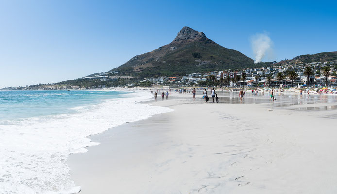 Lion's Head seen from Camps Bay beach