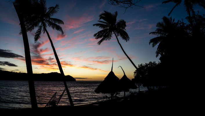 Before sunrise at Naukacuvu Island, Yasawa Islands, Fiji