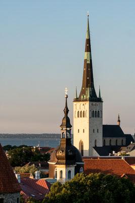 Olaf's church in Tallinn during sunset
