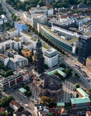 Aerial of Michel in Hamburg
