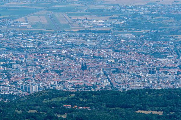 Looking down at Clermant-Ferrand
