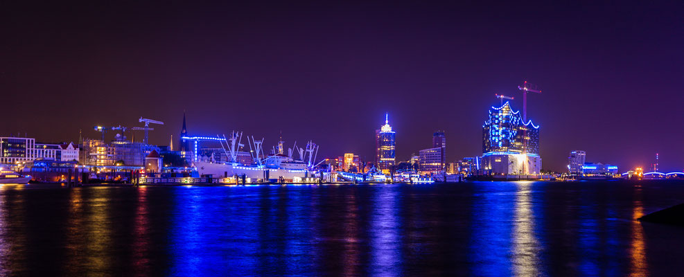 Hamburg skyline during Blue Port Hamburg