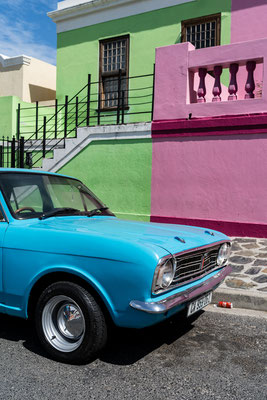 Vintage car in Bo-Kaap, Capetown, South Africa